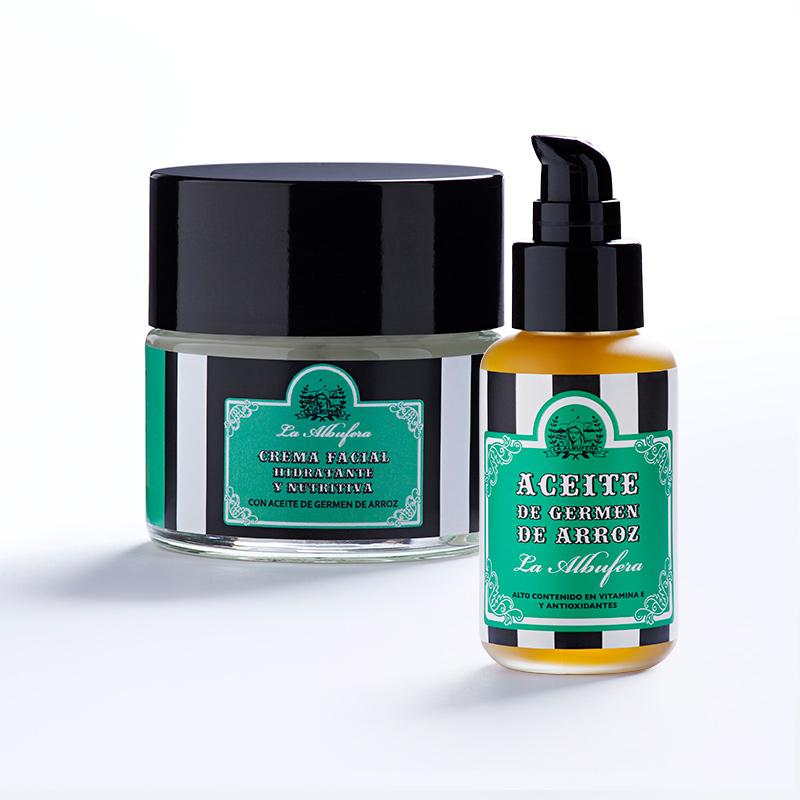 Aceite De Germen De Arroz + Crema Facial (aceite 30ml + Crema 50ml)
